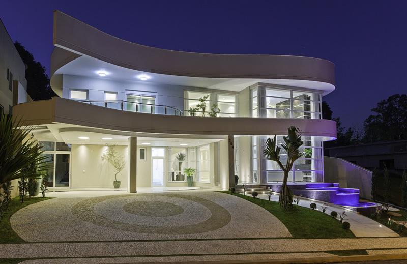 Arquiteto Aquiles Nicolas Kilaris-Casa Beverly Hills _iluminação fachada
