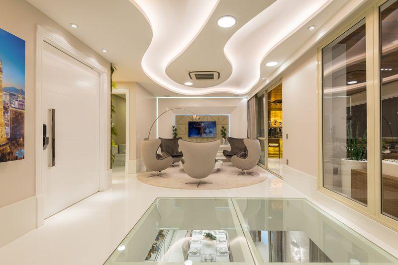 Arquiteto Aquiles Nícolas Kílaris - Apartamento Paris - vidro do piso