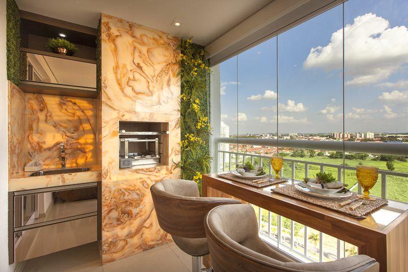 Arquiteto Aquiles Nícolas Kílaris - Apartamento Cavalli - varanda gourmet