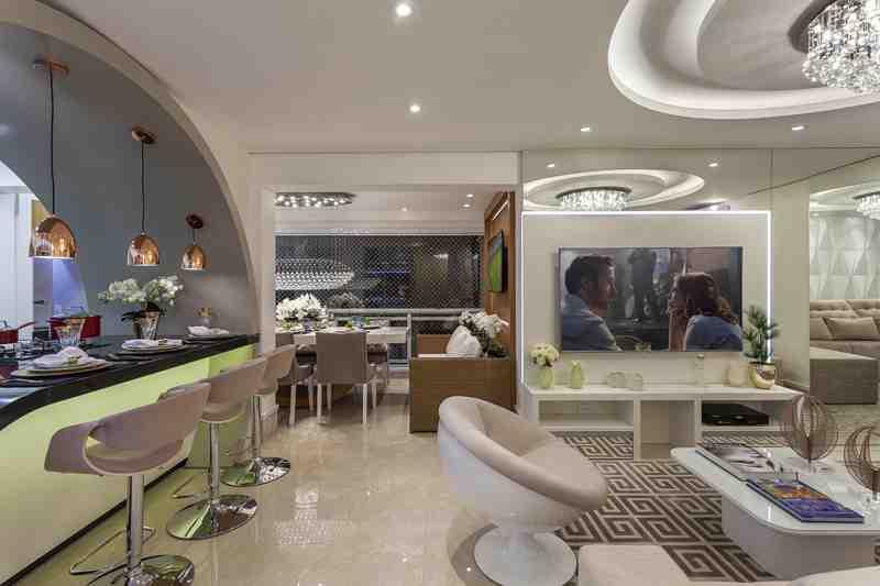 Arquiteto Aquiles Nícolas Kílaris - Apartamento Chanel - integração