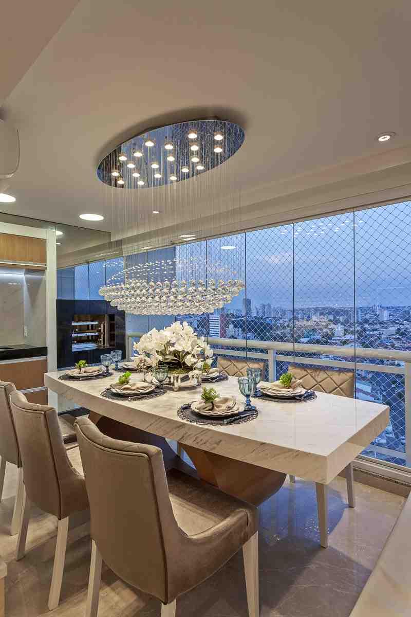 Arquiteto Aquiles Nícolas Kílaris - Apartamento Chanel - sala de jantar