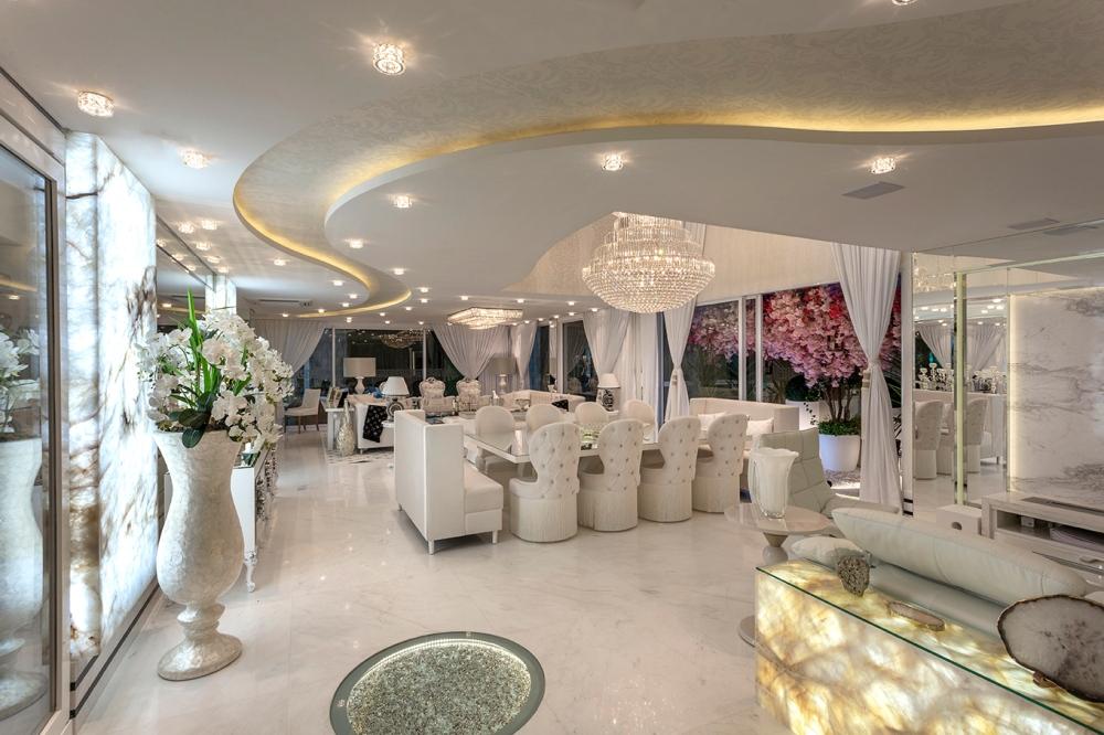 Arquiteto Aquiles Nícolas Kílaris - Casa Versace - jantar