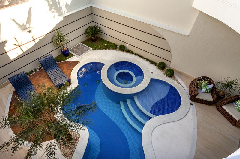 Aquiles Nícolas Kílaris - Casa Diamante - piscina