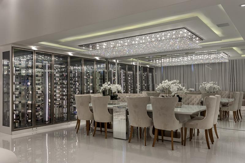 Arquiteto Aquiles Nícolas Kílaris - proteto arquitetônico Apartamento Morumbi - jantar